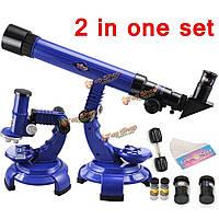 Телескоп микроскоп комплект наука природа образовательная астрономия обучения малышей игрушки