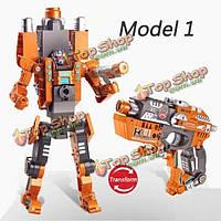 Деформация игрушки съемки сборки трансформаторов робот пистолет