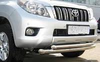 Двойная дуга по бамперу на Toyota Land cruiser 150