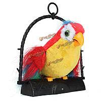Говорящий попугай повторяет то, что вы говорите, милые игрушки птицы в штучной упаковке