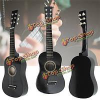 23-дюймов деревянная акустическая 6 струнная игрушка инструмент мини-гитара