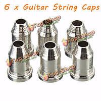 6 x хром гитарной струны через зачищены тела 1/4-дюйма струнные наконечники для Telecaster