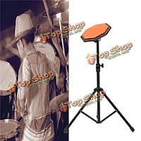 8-дюймов 21см резиновые немой барабанные колодки практика комплекте с подставкой