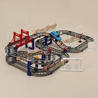 Hengjiang поделок электрический автомобиль гоночный трек строительные блоки образовательные игрушки