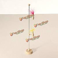 Творческий поделки весна маленькая деревянная птица для игрушек малыша