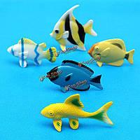 12pc пластиковых морских животных модель игрушки красочные рыбы существа океана красивейшее море