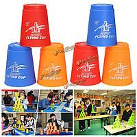 12шт Скорость быстрой укладчик чашек FAST штабелирования стеки конкуренции спортивная игра игрушка