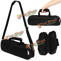Флейта сумка для переноски чехол с боковой карман плечевой ремень черный
