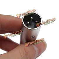 3-контактный XLR штекер 1/4-дюйма 6.35 моно Штекер аудио кабель DJ микрофонный адаптер