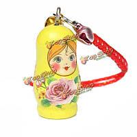 Деревянный брелок России кукла брелока очарование брелок для милых дам девочек дар