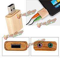 USB 2.0 12Mbps виртуальный 7.1-канальный стерео привет-Fi адаптер деревянные звуковая карта