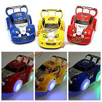 Светящиеся звезды прохладно Racing Wheel дети электрический автомобиль автоматическое управление