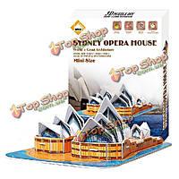 Картонный модель головоломки 3d головоломки Сиднейский оперный театр поделки игрушки