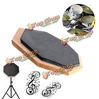 6-дюймов немой площадку упражнения мат удар пластины резиновые барабанщик двухсторонняя мягкая черная