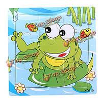 9шт DIY из дерева лягушки головоломки головоломки детские обучения дети игрушки