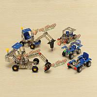 Фантазии металл собирает игрушки мальчик творческий DIY грузовик винт разборки игрушка сплава собранный автомобиль
