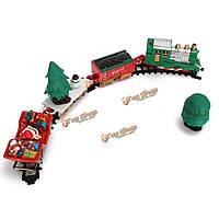 Детская железная дорога музыкальная игрушка поезд с вагонами