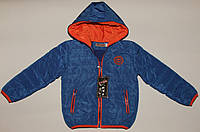 Куртка на мальчика 4-12 лет синяя утепленная.