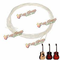 Набор из 6 белых строк нейлона гитары для классической гитары
