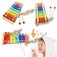 8 развитий ксилофона музыкального инструмента примечания образовательная игрушка