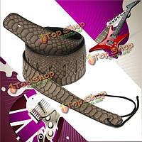 Кожа питона приспосабливаемый ремень гитары для баса электрогитары