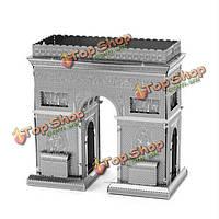 Металлическая стальная нано 3-я DIY триумфальная модель мозаики арки