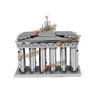 Металлическая стальная нано 3-я загадка сделай сам мозаика никакой клей Бранденбургские ворота
