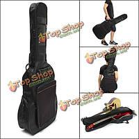 Обитый мешок гитары 41 дюйм толщиной несет случай двойные черные лямки