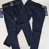 Брюки  школьные Т.СИНИЕ для девочки  5-8 лет (ПОЛНОМЕРЫ). Турция. Джинсы для школьников, школьные джинсы.