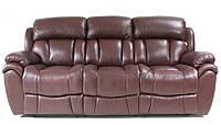 """Стильный кожаный диван """"BOSTON"""" бордовый"""