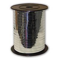 Лента для воздушных шаров металлизированная серебро