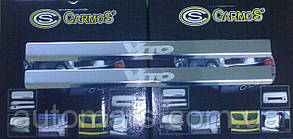 Накладки на пороги (на металл) Mercedes Vito W638 Lazer-style