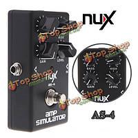 NUX как 4 симулятора усилителя электрическая педаль эффекта истинный обход