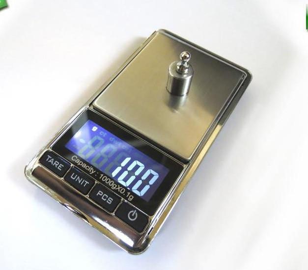 Высокоточные Ювелирные Весы 1000гр(0.1гр)с чехлом