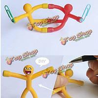 Новинка с любопытством удивительным подарок мини Q- человек магнит милые резиновые магниты человек игрушка