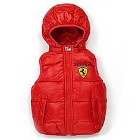 Жилет с капюшоном Ferrari (красный)