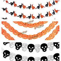 8 стилей Хэллоуин бумаги гирлянды домашний бар паб украшения реквизит пропуск декор