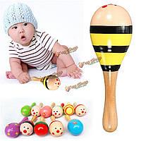 Музыкальный деревянный красочный игрушки малыш звук песка молоток для детей