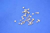 Паетки (5мм)клеевые звездочка золото (50шт)