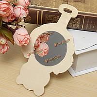 13 * 8см чистые деревянные зеркало творческие игрушки для детей Kids DIY Дизайн Живопись