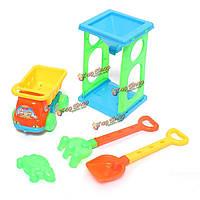 6 шт приморский пляж игрушки тележки лопатой установить для воспроизведения песок и воду