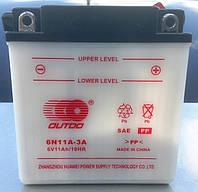 Аккумулятор для мотоцикла 6В (сухозаряженный)