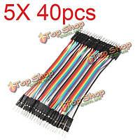 5X40шт 20см между мужчинами цвет макета кабель прыжок проволочной перемычкой для Радиоуправляемые модели