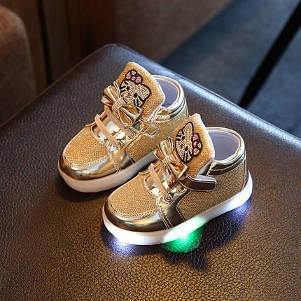 Высокие детские кроссовки с подсветкой, фото 2