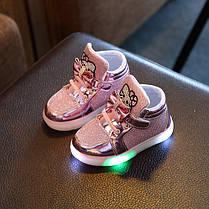 Высокие детские кроссовки с подсветкой, фото 3