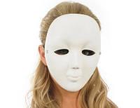 Карнавальная маска белая безликая