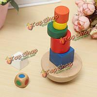 Деревянный балансировка игры образование детей творческий игрушку многоцветная