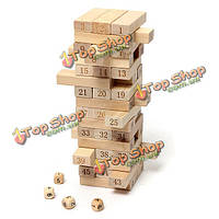 48шт деревянный столб творческий блоки игра образование детей игрушки