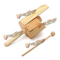 Орф инструмент детская деревянная перкуссия нескольких звуковая трубка со стержнем