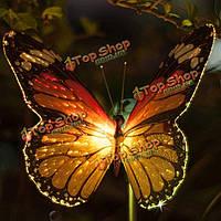 Бабочка LED оптическое волокно солнечная энергия света лампы открытый
